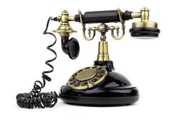 Old vintage black phone