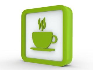 Icon grün Kaffee