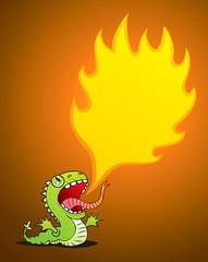 Dragon spewing flames