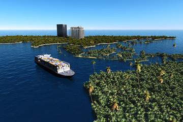 The cargo ship
