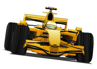 Aluminium Prints Fast cars formula one racing car