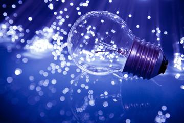 lampadina con fibre ottiche
