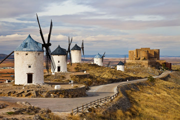 windmills of Don Quixote -traditional Spain
