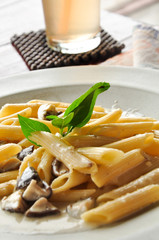 Penne with mushroom, Thailand