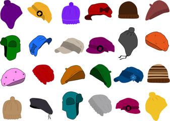 Set of a hat icon