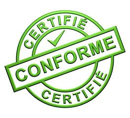 """""""Certifié Conforme"""" Cachet"""
