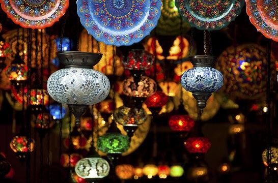 Colorful Arabic lanterns