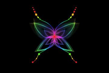 Papillon Abstrait Fluo
