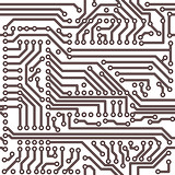 Vector Seamless Electrical Circuit Diagram Pattern Stock Image And