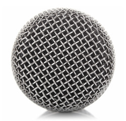metallic microphone mesh