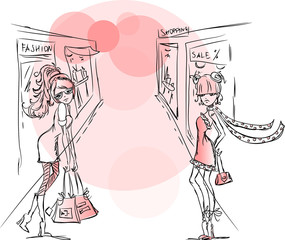 Мультфильм модных девочек
