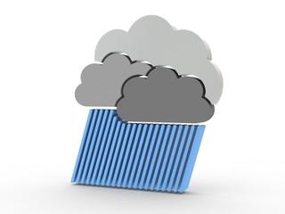 3d Icon Wolkenbruch