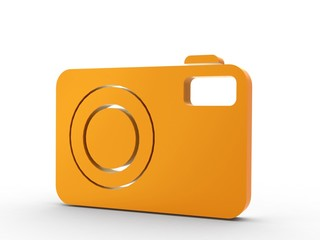3d Icon Fotokamera orange
