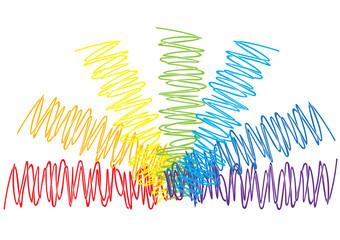 Rainbow scribble