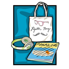 hipster accessories clip art
