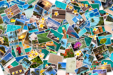 Collage photos vacances plage
