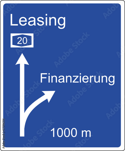 autobahnschild leasing finanzierung stockfotos und lizenzfreie vektoren auf. Black Bedroom Furniture Sets. Home Design Ideas