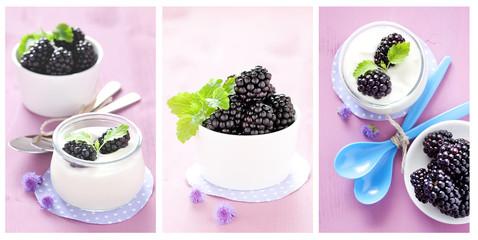 Joghurt und Brombeeren