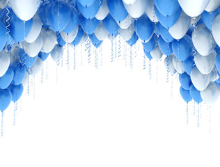 Balloons blue and white