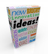 Ideas Product Box Innovative Brainstorm Concept Inspiration