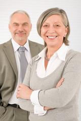 Senior businesspeople Professional smile cross arms