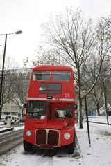 Papiers peints Rouge, noir, blanc London Route Master Bus