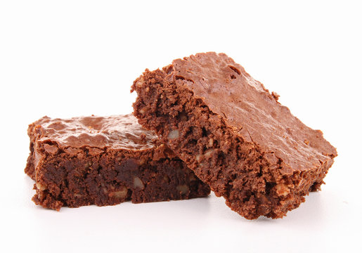 isolated brownie