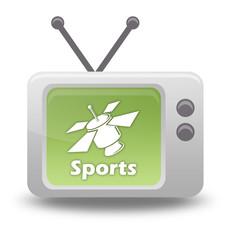 """Cartoon-style TV Icon """"SAT TV - Sports"""""""