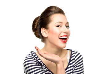 Pin-up girl smiling