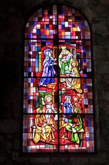 Photo sur Plexiglas Vitrail vitrail rouge
