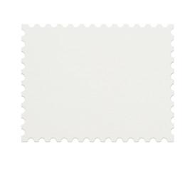 Blank postage stamp on white background