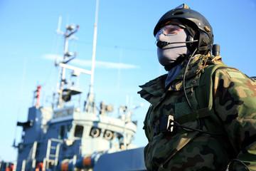A Navy Seals team, soldier