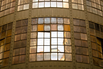Old industrial building with reflection and windows