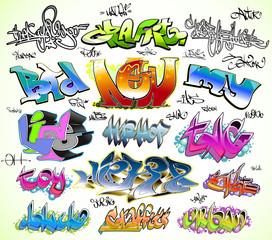 Graffiti design vector set