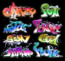 Graffiti Hip-hop vector