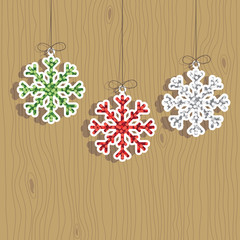 christmas snowflake decorations