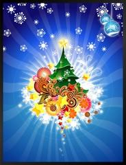 Árbol de Navidad Azul