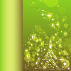 buch innenseite - christbaum im sternenlicht