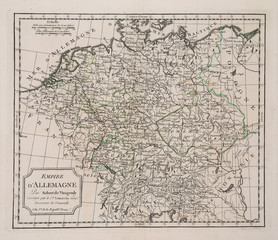 antique map of Germany