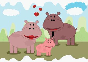Hippo family, vector