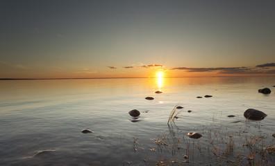 Ocean twilight scene, southern of Sweden