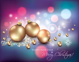 Christmas Background/Abstract  Lights and Christmas Balls