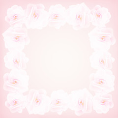 Frame of roses wedding