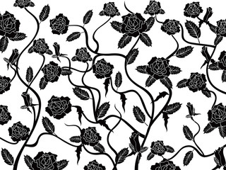 rose seamless pattern background