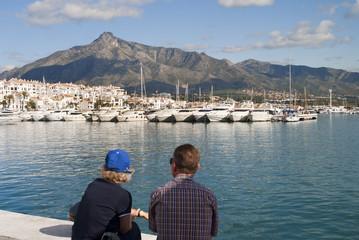 Puerto Banus Harbour in Andalucia Spain