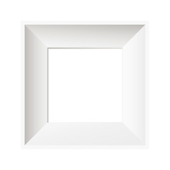 Vector white photo frame