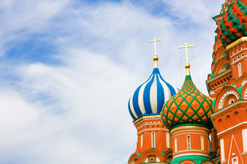 Domes of the famous Head of St. Basil's