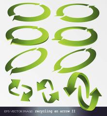 eps Vector image: recycling an arrow 2