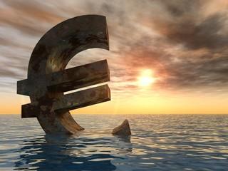 High resolution conceptual 3D euro sign