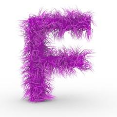 Texteffekt Haare Pink Buchstabe F